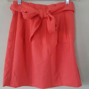 J.Crew Wool Skirt w Bow Paper Bag Pleated Mini